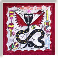 The Electric Gallery - many vodou flags