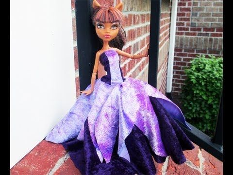 How to make a Monster High Princess Dress - YouTube Chad Allen Tutorial pattern