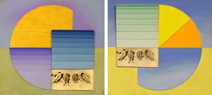 Шедевром Ермилова в жанре ню является коллаж из двух частей «На пляже. Утро. Вечер. 1936». Сегменты и полосы (желтые, оранжевые, голубые и фиолетовые) - это абстрактный пейзаж, это небо и песок. И в этот абстрактный порядок включается абсолютная конкретность: фотография обнаженных женщин, лежащих ничком на нудистском пляже. Позировали Ермилову при фотосъемке жены харьковских художников Седляра, Падалки, Шапошникова и самого Ермилова.
