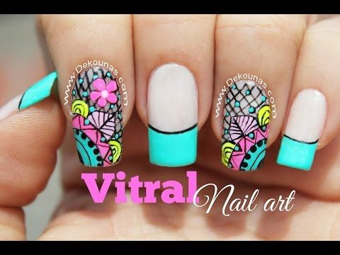 Como hacer stickers para uñas en casa - How to do nail stickers at home - YouTube