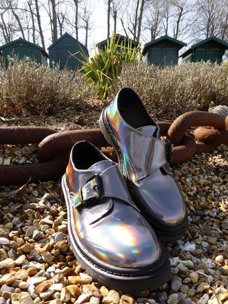 Holographic buckled monk brogue. Find out more at http://wightcatwalk.co.uk/the-future-is-now/