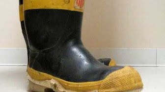Getting into Firemans Wellies - YouTube