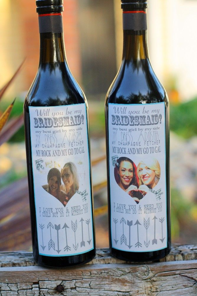 Will you be my Bridesmaid_ custom wine labels best idea ever! Would be cool thank u to bridesmaid s too