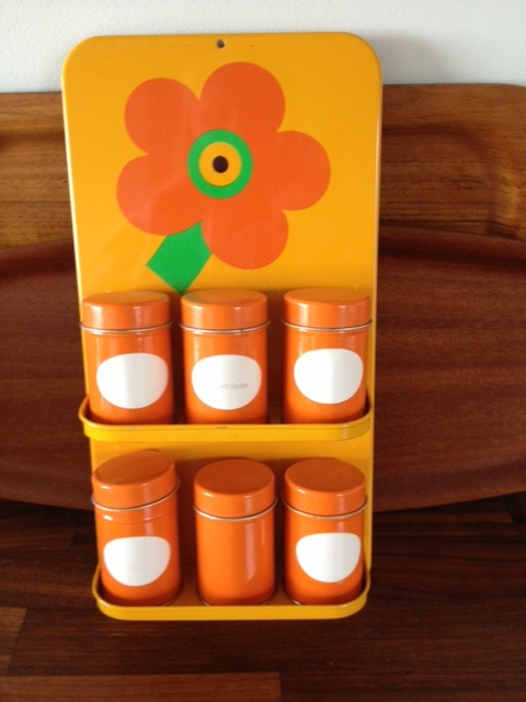 Laurids Lønborg shelf with tiny canisters