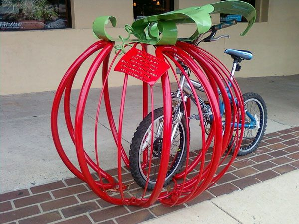 Earthfare-Bike-Rack, some tomato. Rock Hill, South Carolina