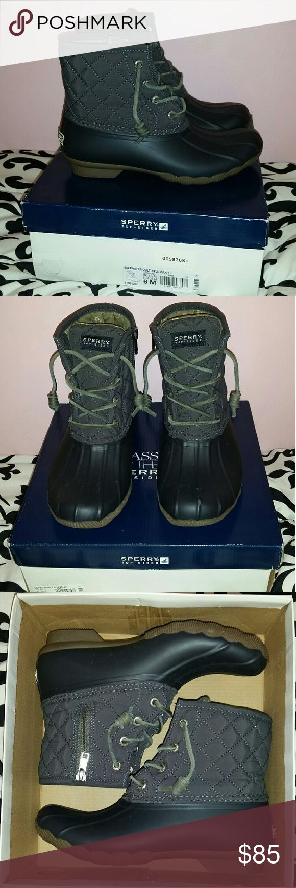 Sperry Saltwater Duck Boots I LOVE these boots but I ordered a half size too small so I need to resell. They were only worn a few times and look brand new! Feel free to offer! Sperry Top-Sider Shoes Winter & Rain Boots