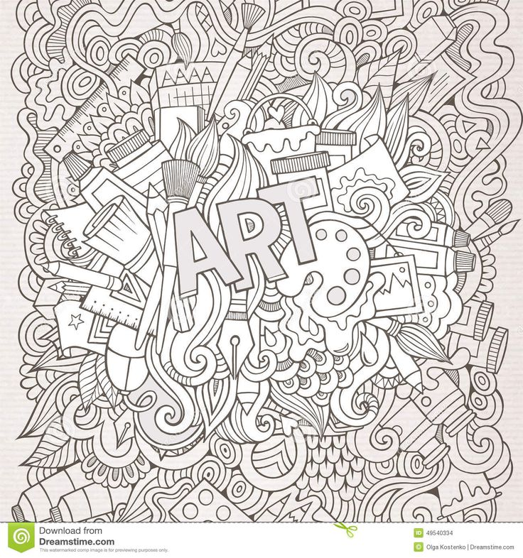 Abstract Doodle Zentangle ZenDoodle Paisley Coloring Pages