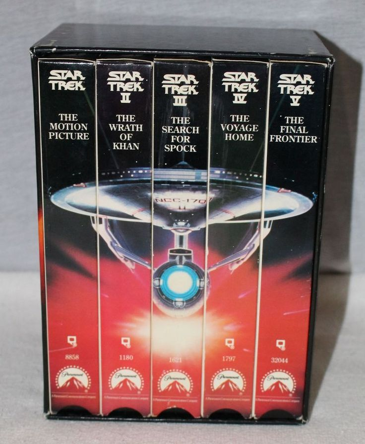 Star Trek The Movies I - V 25th Anniversary Collectors Set VHS Dolby Surround
