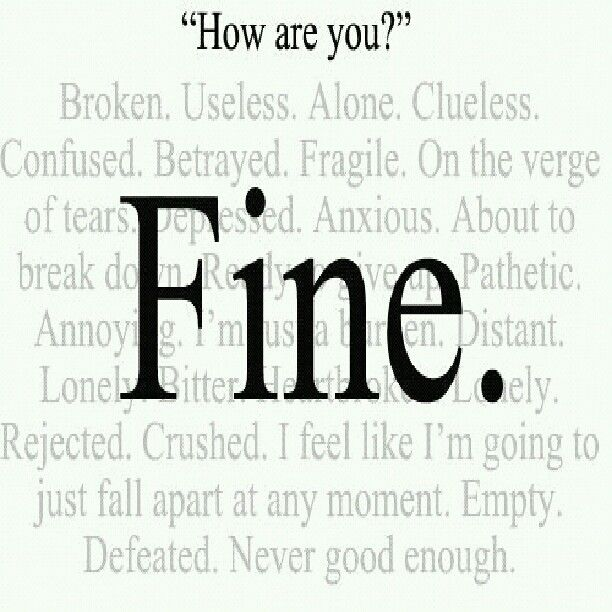 Depression Quotes On Pinterest: Depression.....I'm Fine
