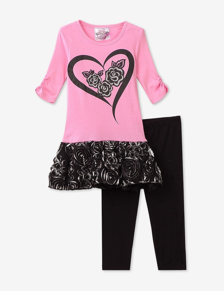 Beautees Rosette Legging 2-Pc. Set – Toddlers & Girls 4-6X