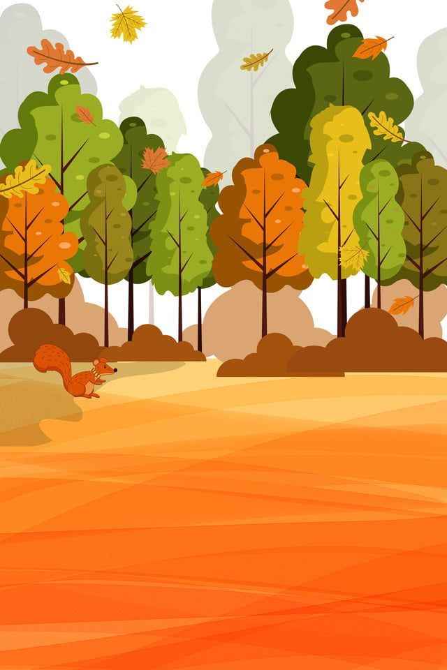 Forest Background Drawing : forest, background, drawing, Forest,propaganda,poster,ad,simple,cartoon,fall,autumn, Drawing, Scenery,, Simple,, Simple, Cartoon