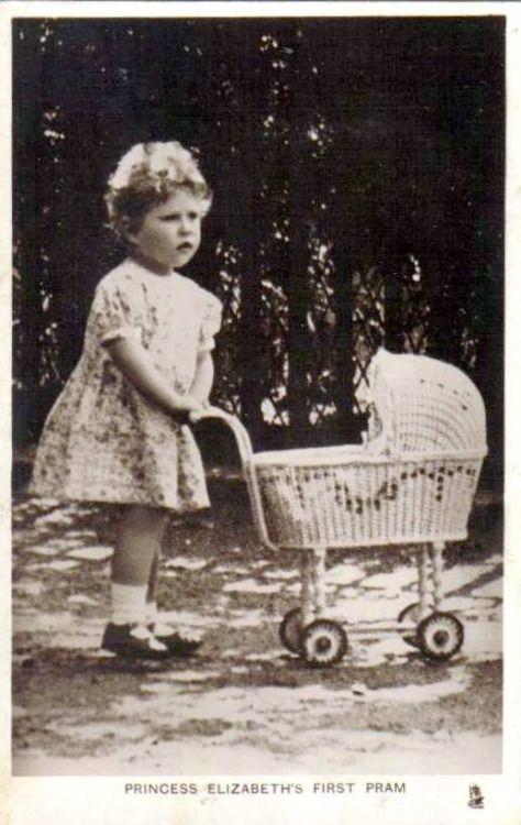 England's Princess Elizabeth's first pram.