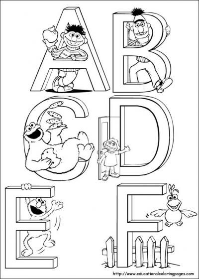 Sesame Street coloring pages.... For my kid... Or you know... Me. ;)