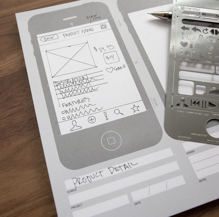 UI Stencils—iPhone Sketch Pad