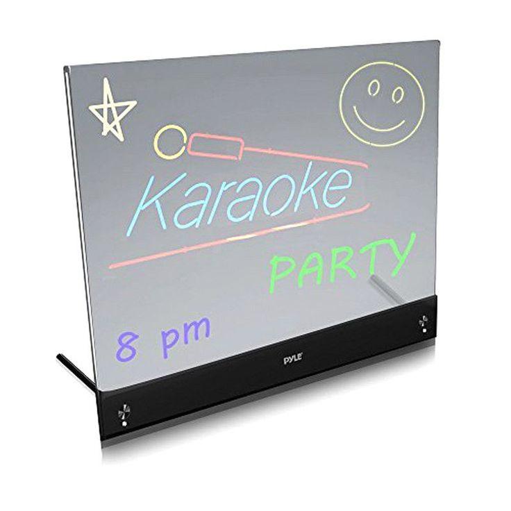 Pyle PLWB2030 Erasable Desktop Illuminated Led Writing Board