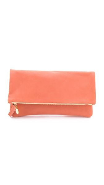 CLARE VIVIER Fold Over Clutch    Love these clutches...