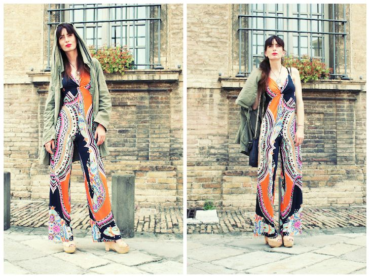 seventies inspired outfit  #seventies #vintage #style #colors #print #fashion #ootd #madeinitaly #altoitaliano #stylish #summer @altoitaliano