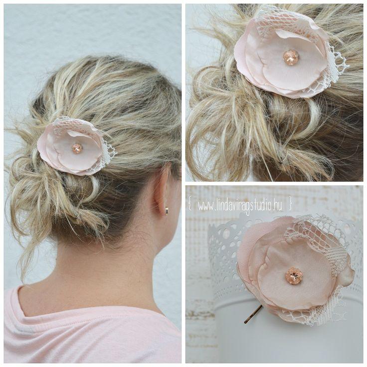 #swarovski #hairpin #wedding #lace #silk #satin
