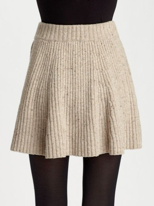 twirly knit skirt