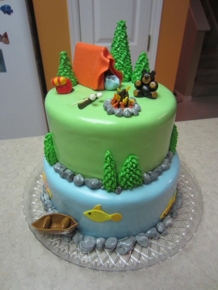 Cakes I've Made: Camping Theme Baby Shower