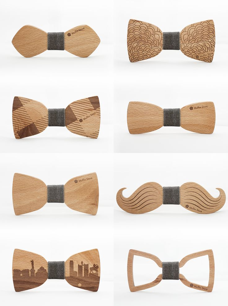 Wooden bow ties by Muffin Studio  #bowties #wooden #design #handcrafted…