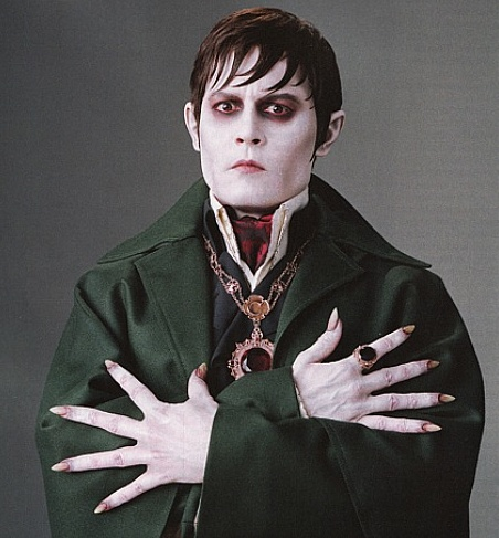 Johnny Depp as Barnabas Collins in Dark Shadows! Out this Summer! So excited!