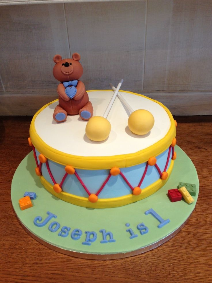 drum birthday cakes for 1st birthday - Google Search