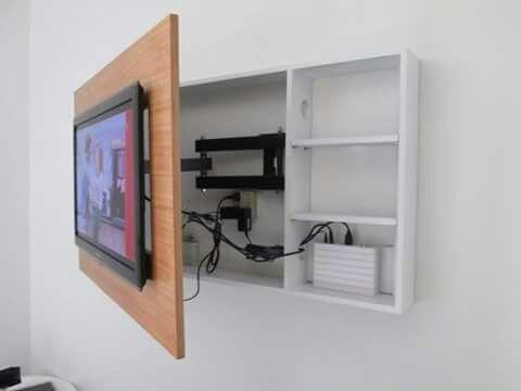 Las 25 mejores ideas sobre ocultar la tv en pinterest - Mueble ocultar tv ...