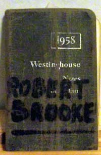 Westinghouse Notes and Data Booklet 1958