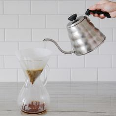 @yellowbrickhome demonstrates how to make pour over coffee