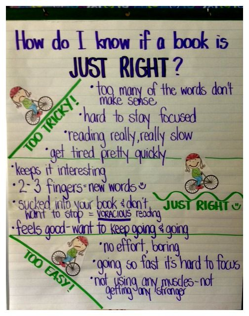 """Just Right Books--Yes!  Love the """"5 finger rule"""" for all my Advanced Readers that come in and want to make sure a book is on their """"right"""" level"""