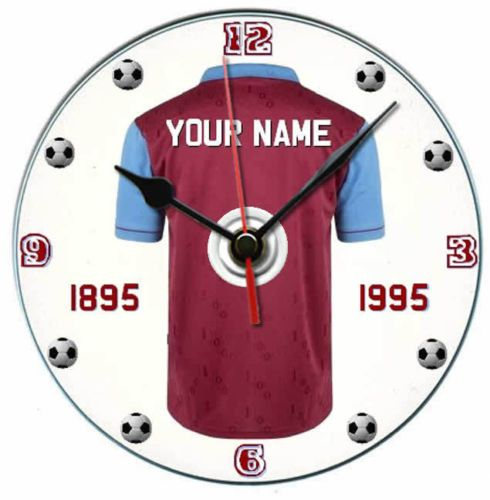 West ham football shirt centenary dvd clock personalised gift with display stand | eBay