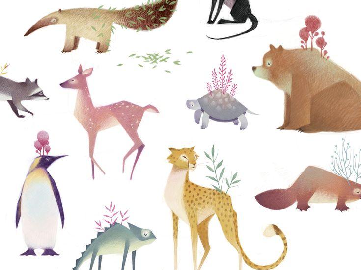 """Descubre """"Animales"""", un proyecto de Mercedes deBellard. La comunidad de la Clase Creativa."""