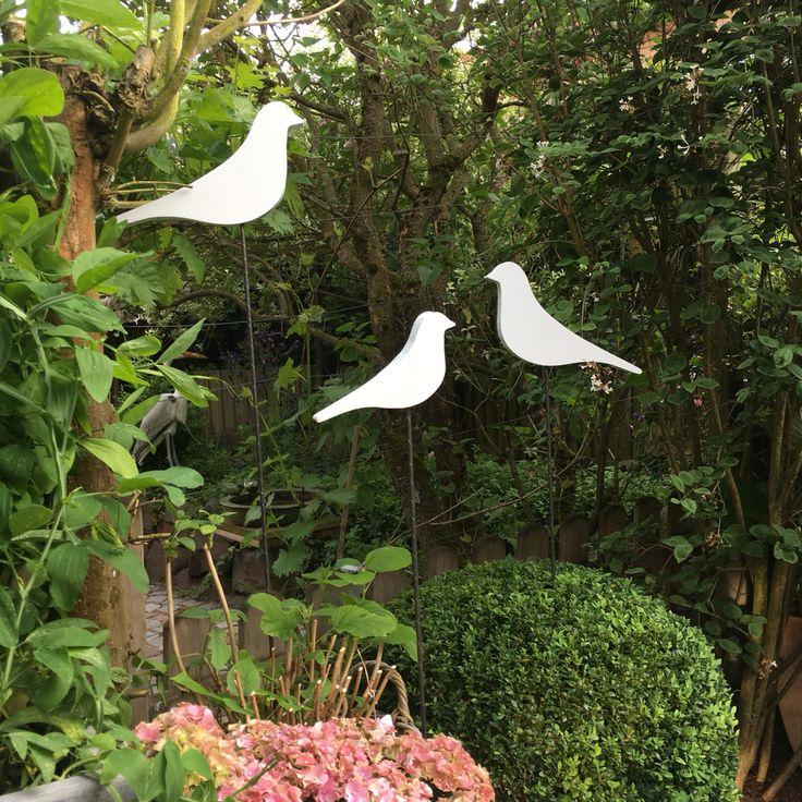 Vögel aus Holz als Gartenstecker by EngelsWerke