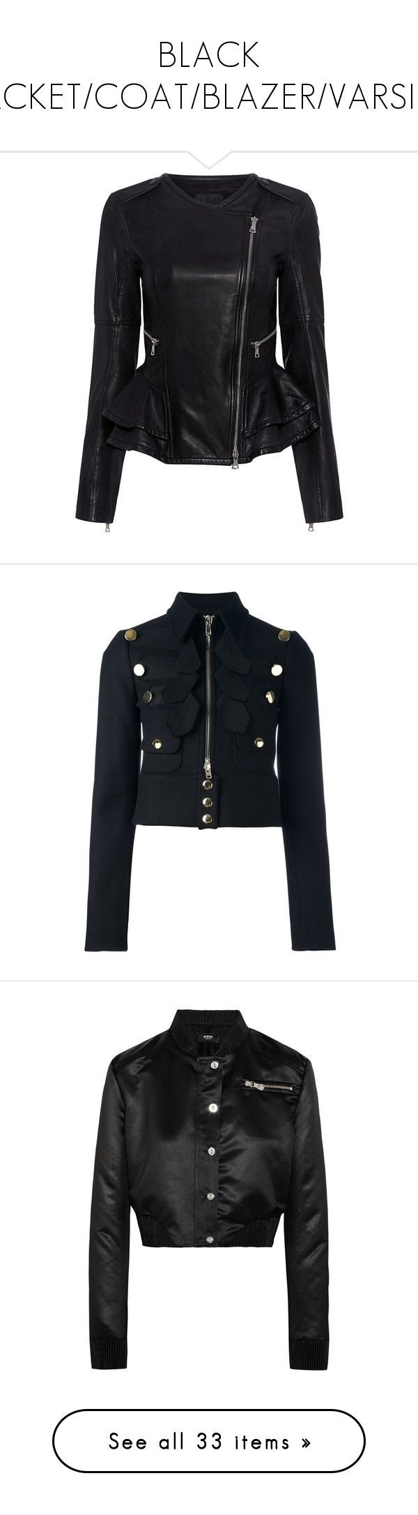 Leather jacket repair toronto -  Black Jacket Coat Blazer Varsity By Aliceridler Liked On Polyvore