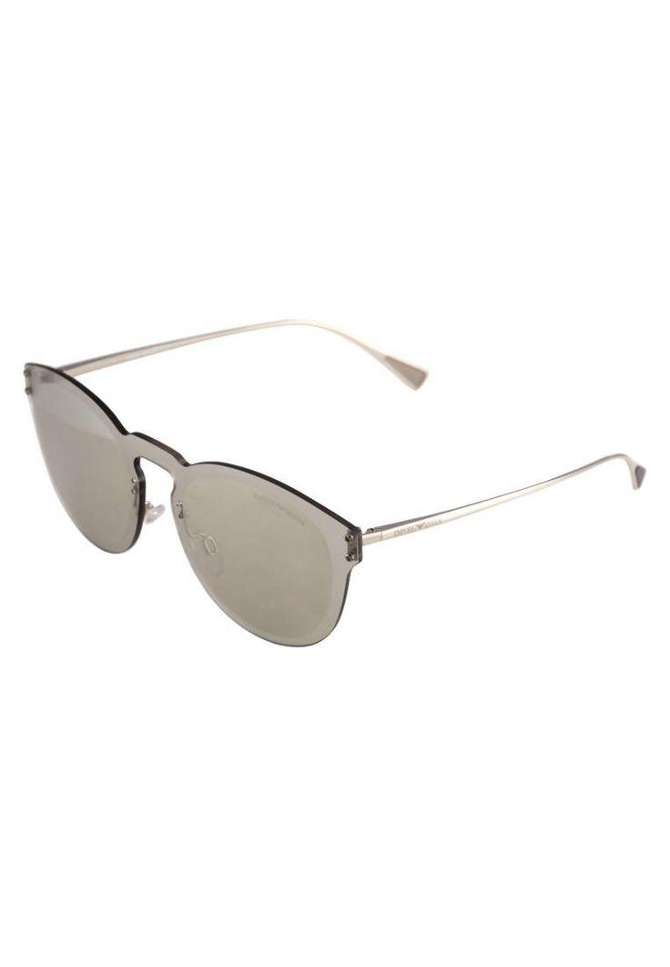 Emporio Armani. Occhiali da sole - silver-coloured. #occhialidasole #sunglasses #zalandoIT #fashion #moda Lenti:Alta protezione. Protezione UV:Sì. Astine:14.5 cm nella taglia 43. Ponte:2 cm nella taglia 43. Larghezza:14.2 cm nella taglia 43. Fantasia:monocromo