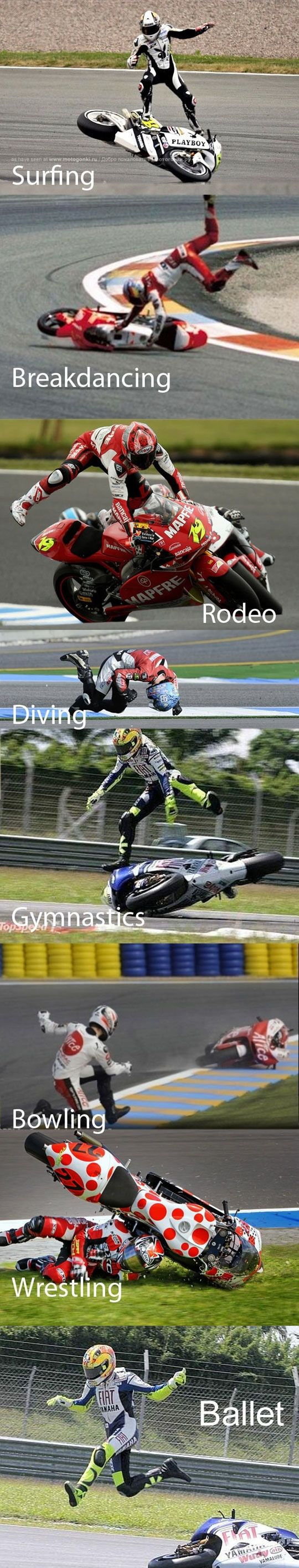 Sports that can be combined with motorcycle racing.