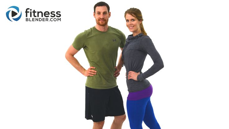 Lower Body Workout with Kelli and Daniel - 40 Minute At Home Butt and Thigh Workout - Fitness Blender