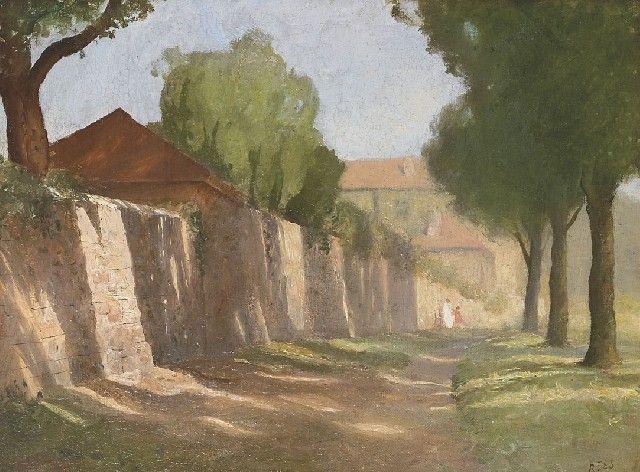 The Lane 1924 - Lloyd Frederic Rees. 1895-1988 Australia