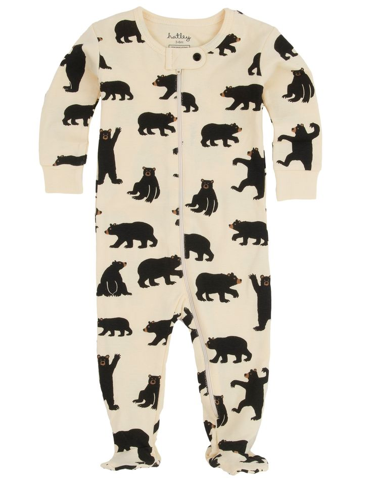 Black Bears Infant Footed Coverall Footed Coveralls