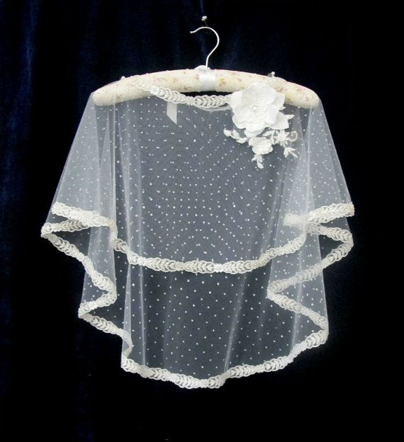 Ivory Lace Bridal Cape Shawl Lace Shrug Wedding Wrap by gebridal, $75.00
