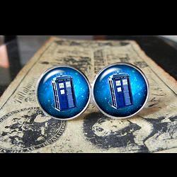 Doctor Who Tardis #2  Find us at these as well:  http://www.bonanza.com/booths/Kustom_Kufflinks  http://www.rebelsmarket.com/rebel-store/kustom-kufflinks