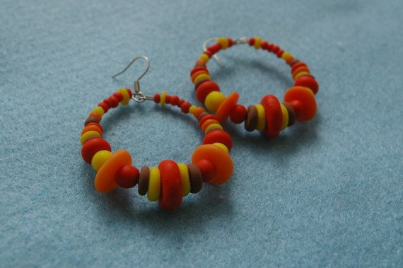 Polymer clay art earrings hand made jewelry by by Inspiration2Art, $14.99