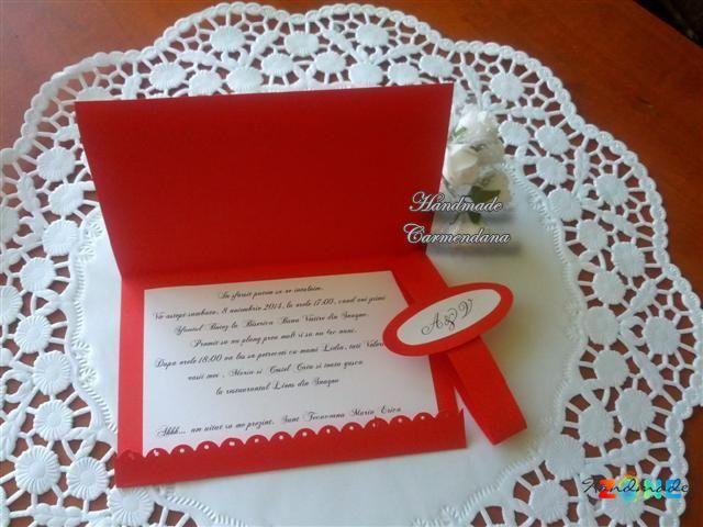 Invitatii de nunta sau botez handmade Petrosani
