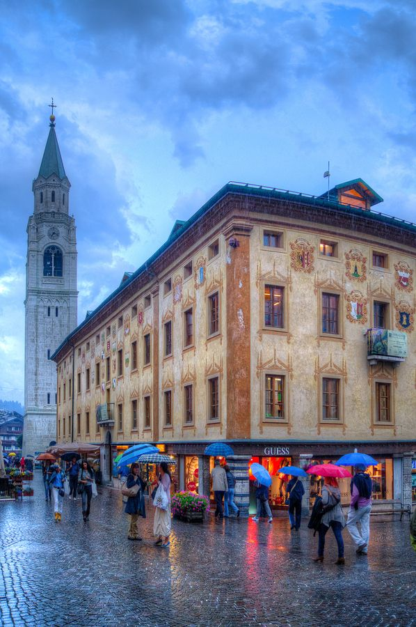 Cortina d'Ampezzo is a town and comune in the southern Alps located in Veneto, a region in Northern Italy. Wikipedia
