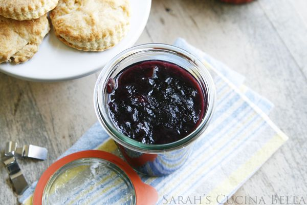 Easy Refrigerator Peach Blueberry Jam