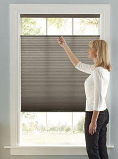 Light filtering Levolor cellular top-down bottom-up blinds for the bedroom. Genius.