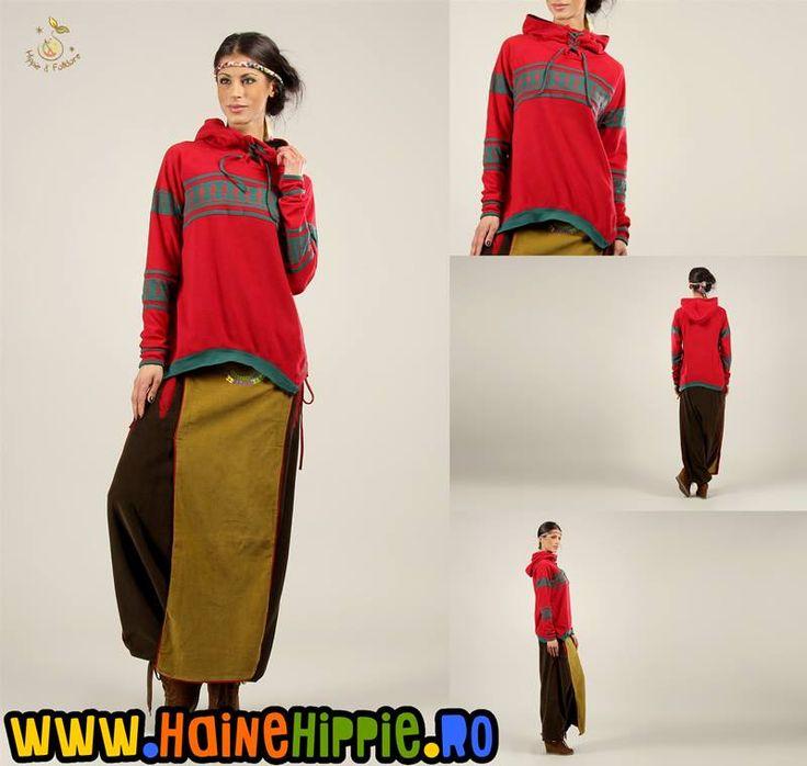 Ţinută de început de an la Haine Hippie. http://www.hainehippie.ro/hanorace-pulovere-poncho/1646--hanorac-polar-cu-motive-etno-.html