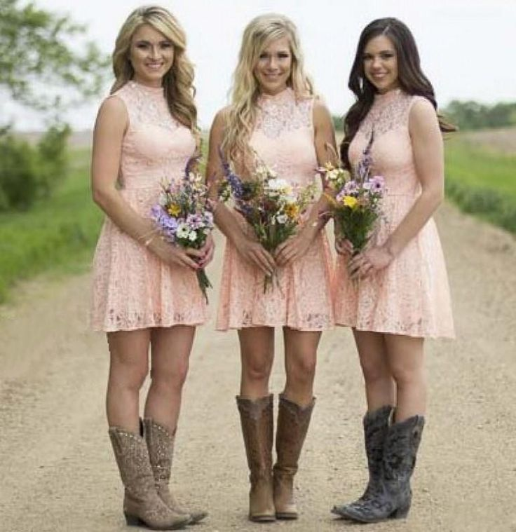 Coral Country Bridesmaid Dresses