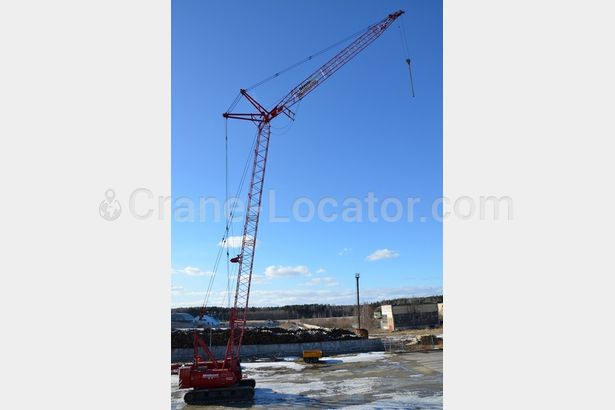 Lattice boom crawler crane Manitowoc 222 look on the map using Crane-Locator.com